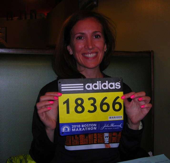 my bib, I guess I am running!