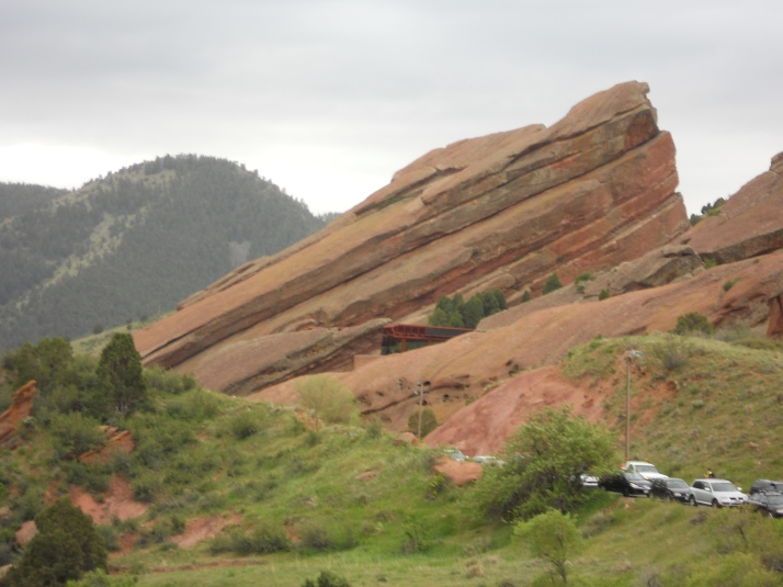Red Rocks. See the amphiteatre right there?