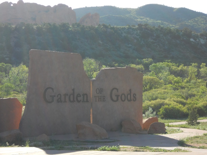 Garden of the Gods is a park with red vertical rock formations