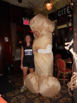 Kara Goucher pregnant halloween costume paula radcliffe