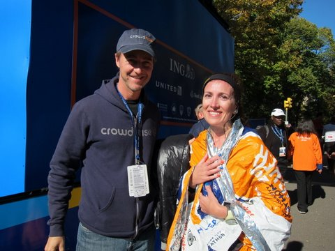 2011 New york City Marathon finish line Ed norton Footlocker Five Boro Challenge
