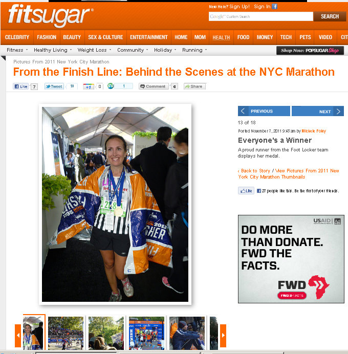 2011 New york City Marathon finish line Footlocker Five Boro Challenge 3