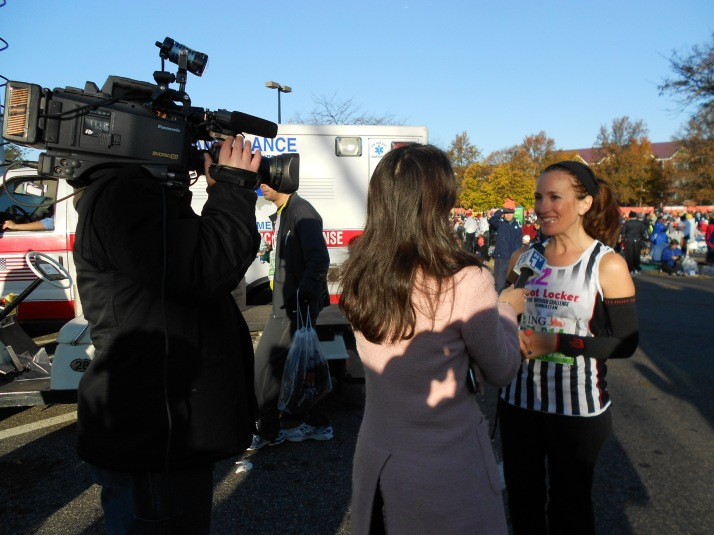 new york city marathon 2011 Footlocker five boro challenge nyrr elizabeth maiuolo ny1 news (1)