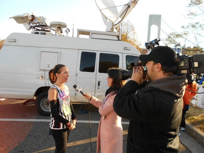 new york city marathon 2011 Footlocker five boro challenge nyrr elizabeth maiuolo ny1 news (2)
