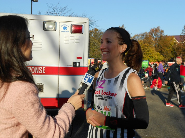 new york city marathon 2011 Footlocker five boro challenge nyrr elizabeth maiuolo ny1 news (5)
