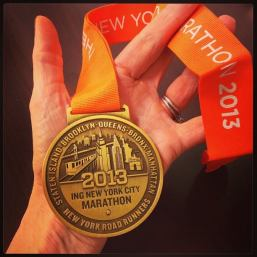 2013 new york city marathon medal