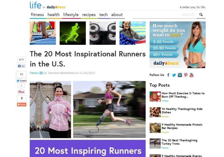daily burn elizabeth maiuolo most inspirational runners karnazes reinertsen