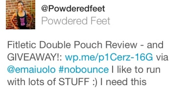 powderedfeet giveaway fitletic