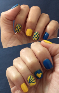 2014 boston marathon nail art