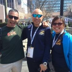 Juan, Linda's brother, and Linda!
