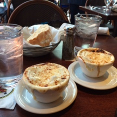 Dinner... french onion soups!