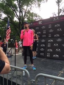 Deena Kastor at the NYRR Oakley Mini 10K