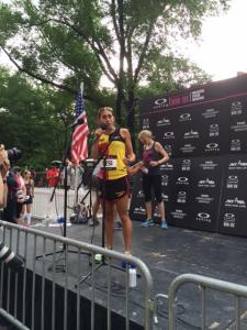 Desire Linden at the NYRR Oakley Mini 10K