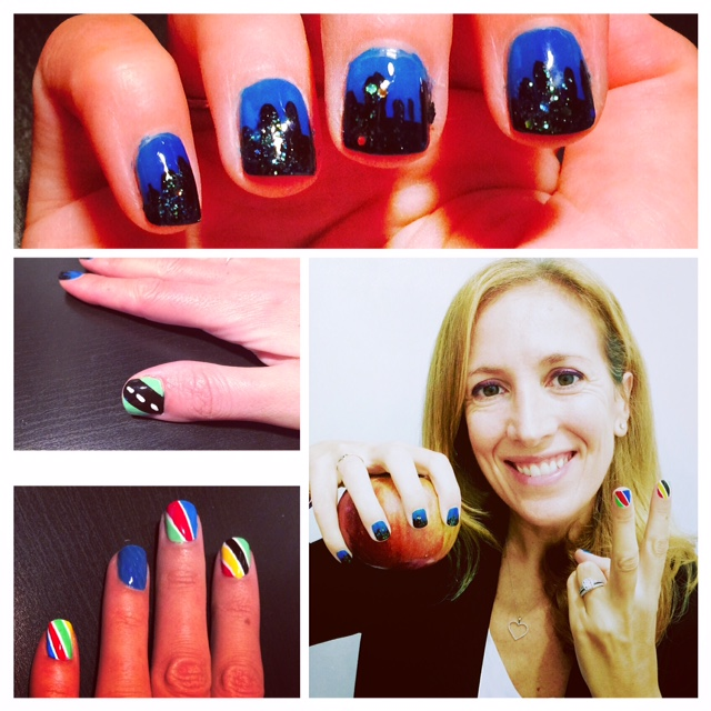 tcs new york city marathon nails nailart art marathon
