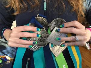 my  #unitednychalf nails. crazy ready.